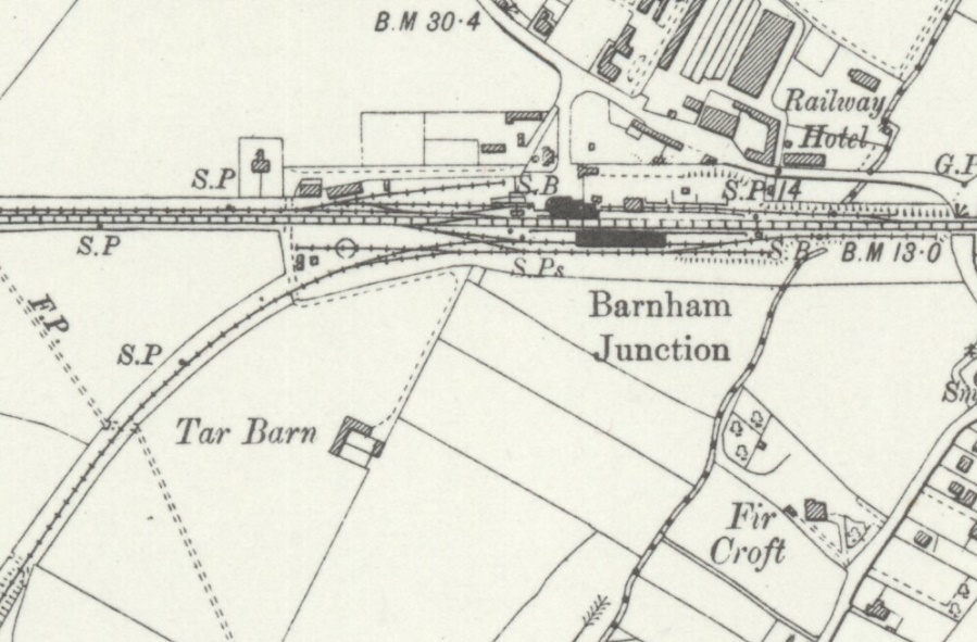 7 Drayton Havant to Barnham Line. Chichester Railway Station Photo.Bosham